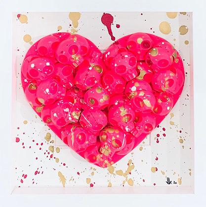 VL. «Heart skull rose»