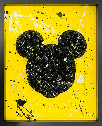VL. «Mickey skull noir et jaune»