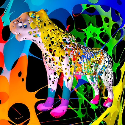 "Alain Vaissiere ""Funky Leopard"""
