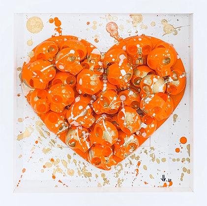 VL. «Heart skull orange»