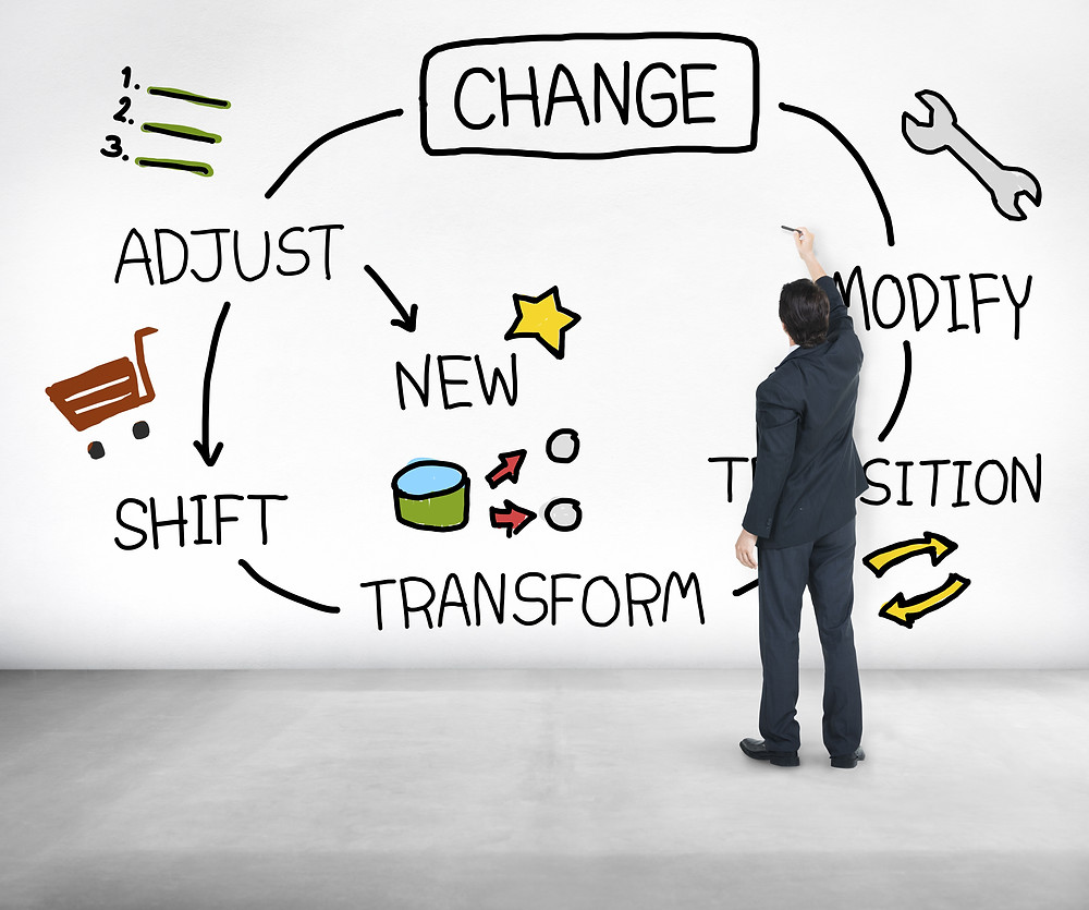 Managing changes in life, change, adjust, modify, shift, transform, transition