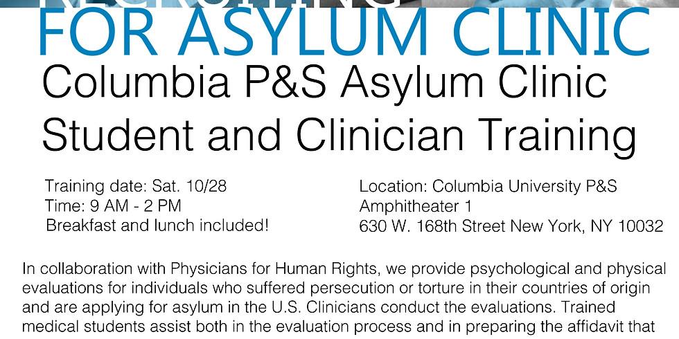 Fall 2017 Asylum Clinic/Human Rights Initiative Training