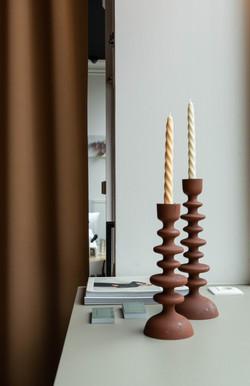 Swirl candles