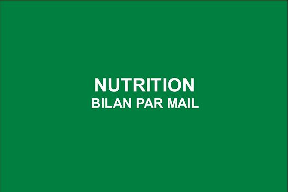 Nutrition Bilan Alimentaire personnalisé