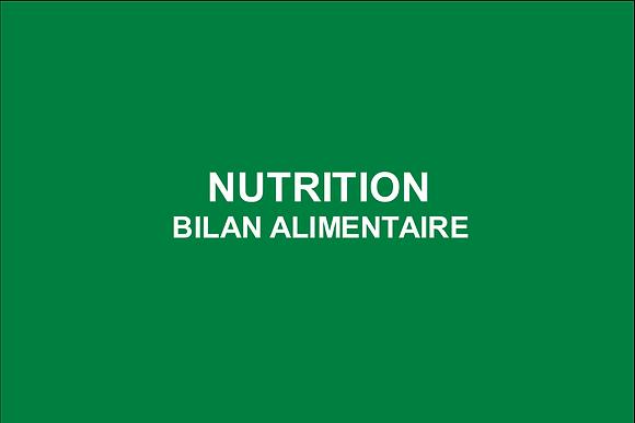 Nutrition Bilan alimentaire
