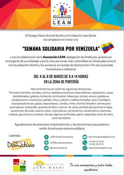 Semana solidaria por Venezuela 2019
