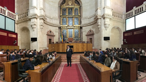 Parlamento Andaluz con los alumnos de 4º de ESO