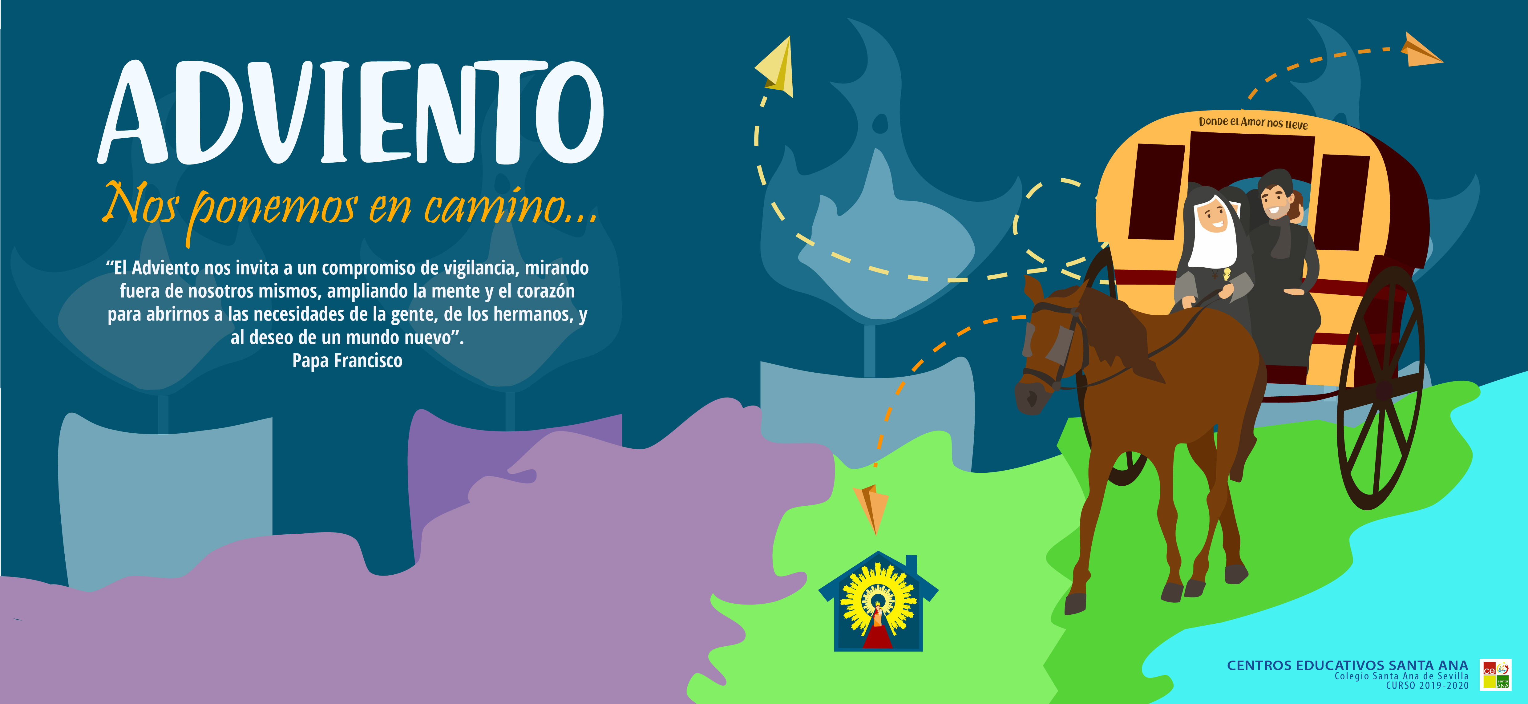 Adviento, cabecera web, curso 2019-2020.