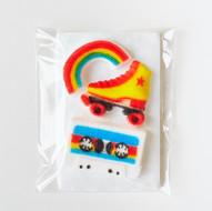 Roller Skate Set Sugar Decorations