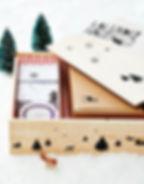 Inside your KalenderHaus gingerbread house advent calendar kit