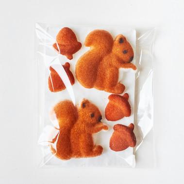 Squirrel Sugar Decorations