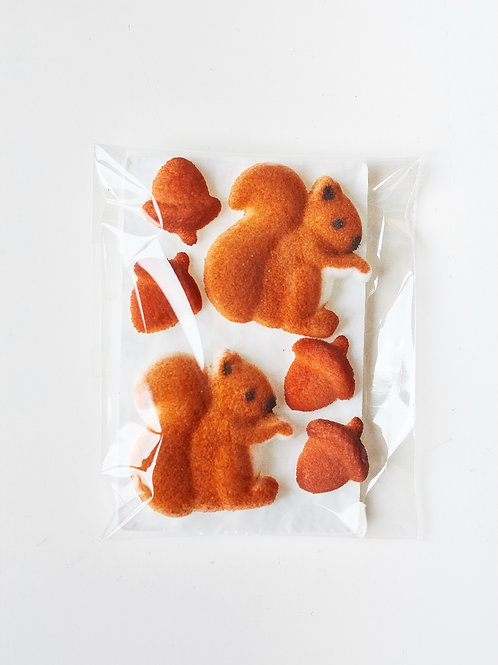 Sugar Squirrel Cake Decorations