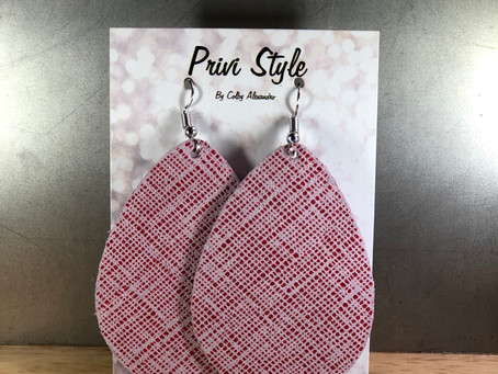 New Link to Privi Style Leather Earrings