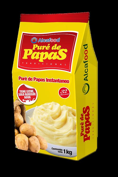 Puré de Papas Tradicional - 1kg x 6 Unidades