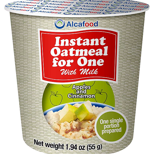 Instant Oatmeal for One - Apples and Cinnamon 1.94 Oz x 36