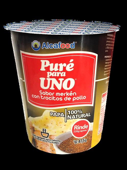 Puré para Uno Sabor merkén con trocitos de pollo - 36 Unidades