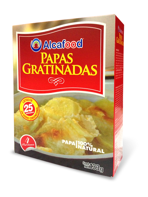 Papas Gratinadas - 133g x 18 Unidades
