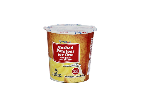 Mashed Potatoes for One with - flavor four cheeses 1.7 Oz. x 36