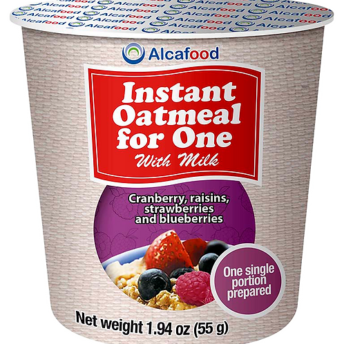 Instant Oatmeal for One - Raisins and berries 1.94 Oz x 36