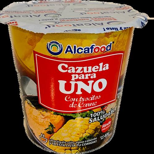 Cazuela para Uno con trocitos de Carne - 36 Unidades