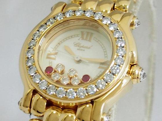 Chopard Gold Ladies Happy Diamond