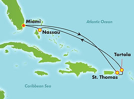 Norwegian Bliss Eastern Caribbean itineray map