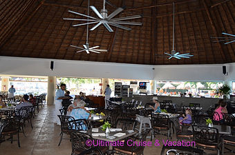 Palapa restaurant by pool & beach, Moon Palace Cancun