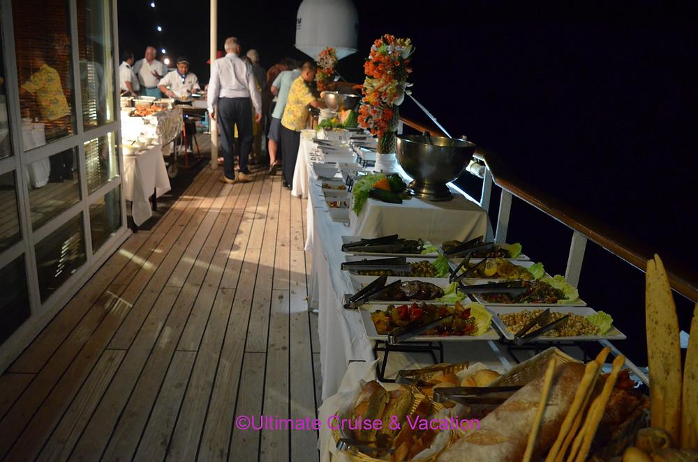 BBQ on Deck dinner on Windstar Cruises Wind Surf