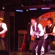 Beatles cover band at The Cavern Club on