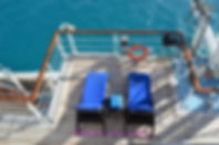 Quiet spot for two on deck on the Windstar Wind Surf