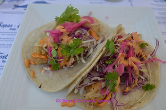 Fish Tacos from La Cevicheria, Grand Fiesta Americana Peurto Vallarta