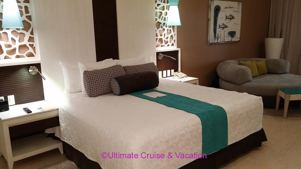 Contemporary look in Infinity Section rooms at El Dorado Seaside Suites