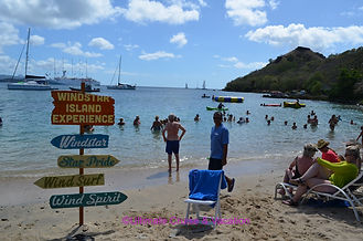 Windstar Island Experience signs on St. Lucia