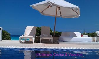Pool loungers at Live Aqua Cancun