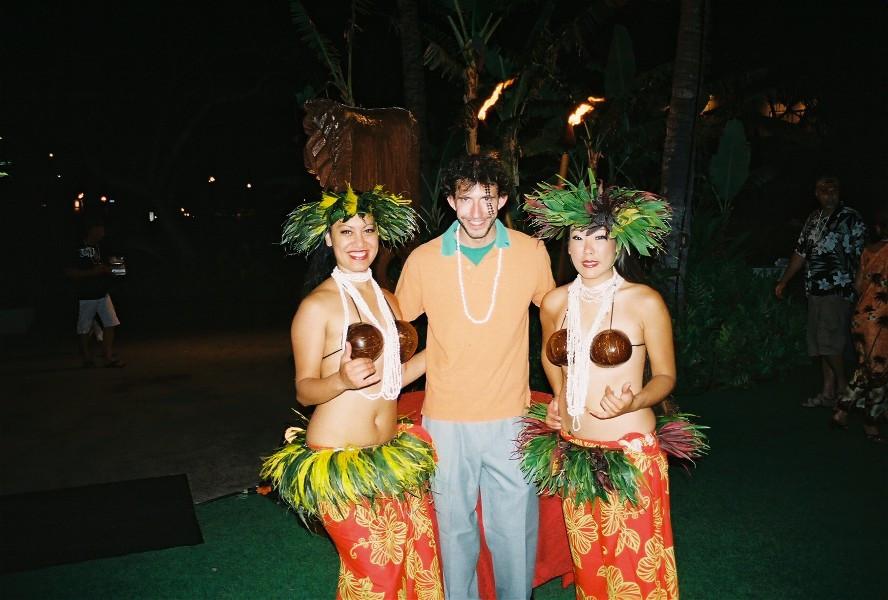 Justin French at Lahaina Luau.