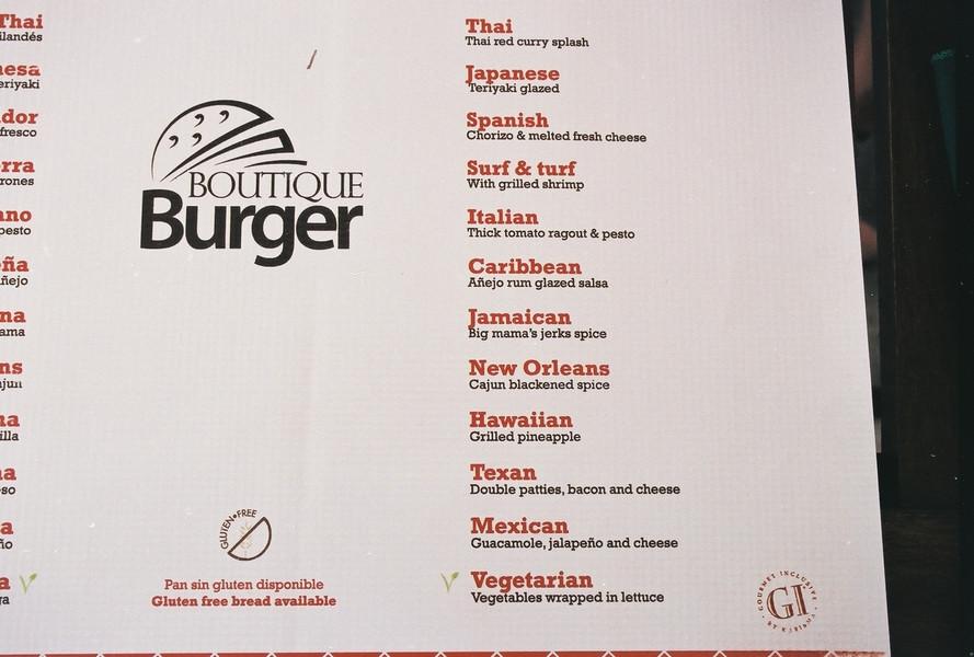 Extensive burger menu at JoJo's; El Dorado Royale