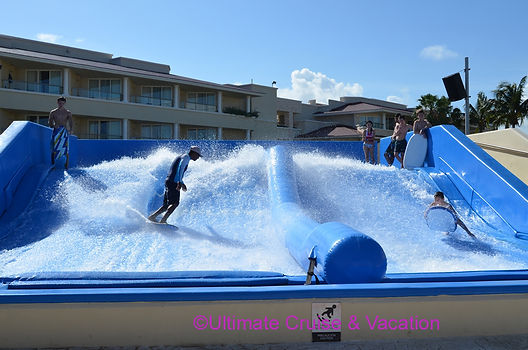 Use your Resort Credit for the FlowRide surf simulator a Moon Palace Cancun.