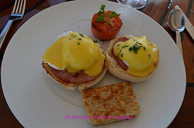 Eggs Benedict served on the Windstar Wind Surf