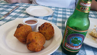 Conch Fritters & Wadadli at Hemingways,