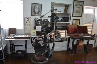 Early optomotrist equipment in Sunbury H
