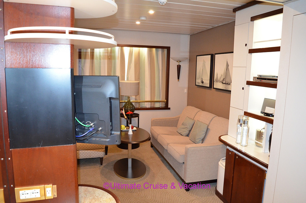 Suite interior, Windstar Cruise Ship