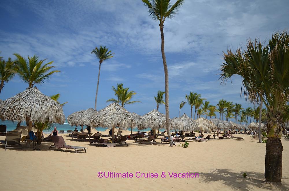 Beach area @ Excellence El Carmen, Punta Cana.