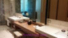 The spacious bathrooms at Hyatt Ziva Cancun
