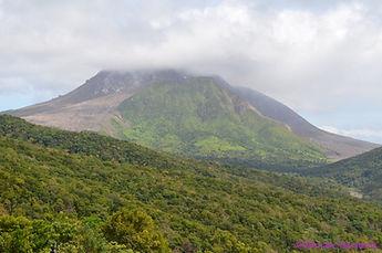 The famous Montserrat volcano