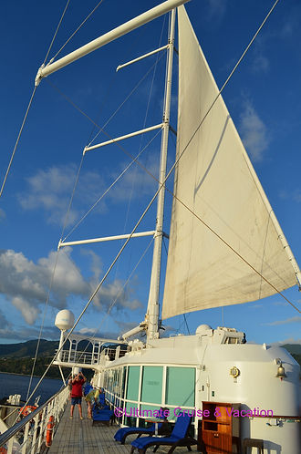 Sails on deck on the Wind Surf