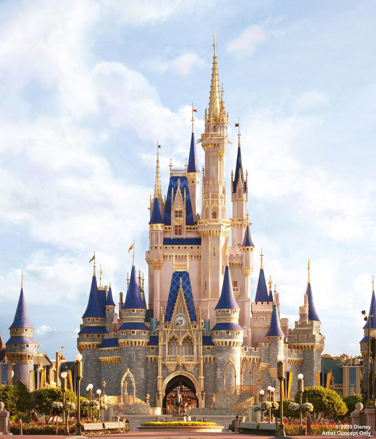 Cinderella Castle rendering of makeover.