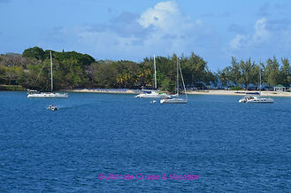 Departing the site of our Windstar Private Beach BBQ Event in St. Lucia