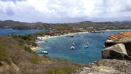 Video of Pigeon Island, St Lucia from Fort Rodney