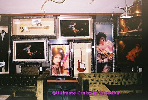 Memorabilia in Lobby Bar, Hard Rock Hotel Cancun