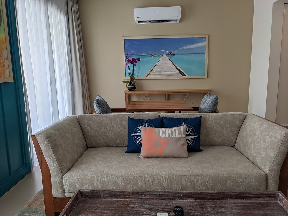 Margaritaville Island Reserve Riviera Cancun Paradise Suite living area.